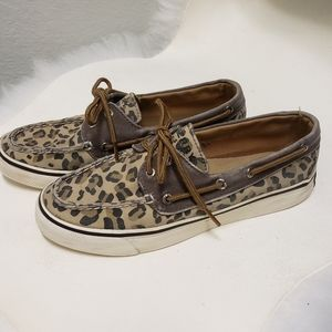 Sperry Top Sider Womens Animal Print Boat …